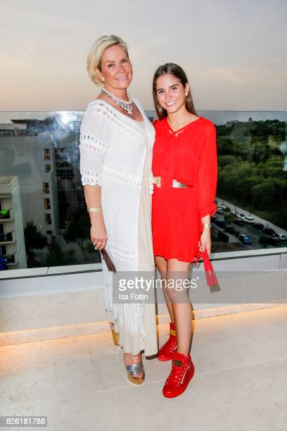 Claudia Effenberg and her daughter Lucia Strunz attend the Remus Lifestyle Night on August 3 2017 in Palma de Mallorca Spain