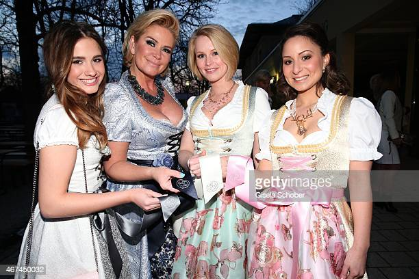 Claudia Effenberg and her daughter Luzia Strunz Stefanie Coordes Ceren Cin all wearing a ce design dirndl by Claudia Effenberg during the SIXT...