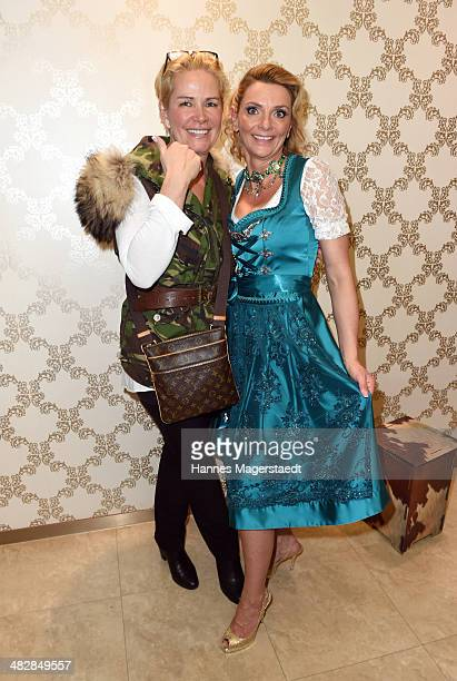Claudia Effenberg and Marie-Catherine Klarkowski attend the 'Relax and Smile' Anniversary Celebration April 4, 2014 in Munich, Germany.