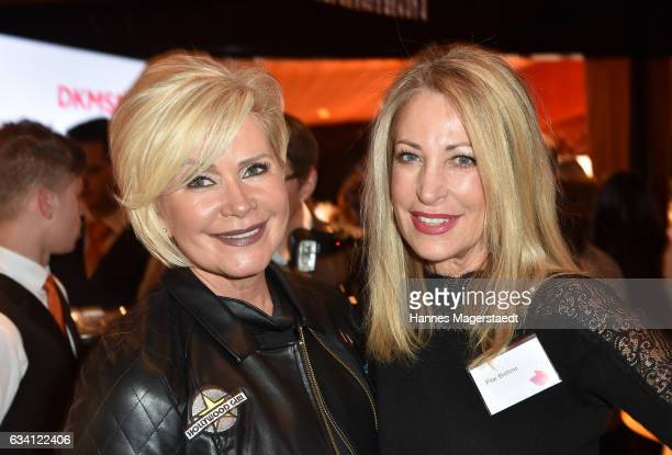 Claudia Effenberg and Pilar Brehme during the 'DKMS Life Charity Ladies Lunch' at Tantris Restaurant on February 7 2017 in Munich Germany