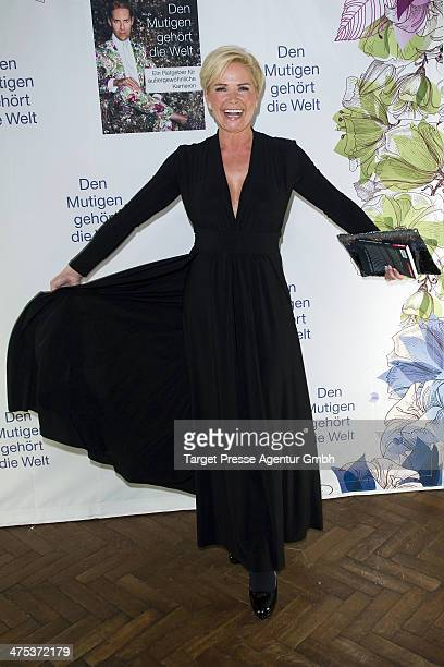 Claudia Effenberg attends the book presentation of Jens Hilbert at Soho House on February 27, 2014 in Berlin, Germany.