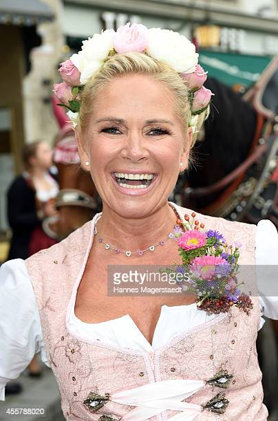 Claudia Effenberg attends the 'Fruehstueck bei Tiffany' at Tiffany Store before the Oktoberfest 2014 starts on September 20 2014 in Munich Germany