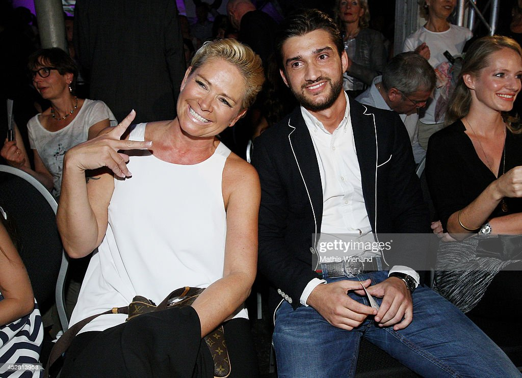Claudia Effenberg attends the Guido Maria Kretschmer Show on July 27, 2014 in Duesseldorf, Germany.