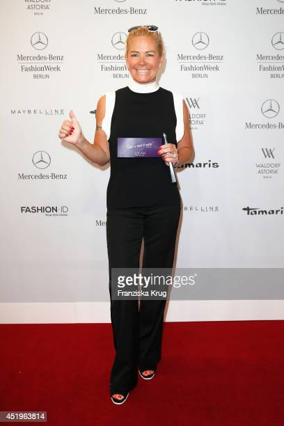 Claudia Effenberg attends the Laurel show during the MercedesBenz Fashion Week Spring/Summer 2015 at Erika Hess Eisstadion on July 10 2014 in Berlin...