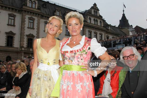 Claudia Effenberg attends the opera 'The Magic Flute' at the Thurn Taxis Castle Festival Opening on July 13 2012 in Regensburg Germany