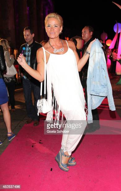 Claudia Effenberg attends the P1 summer party at P1 on July 22, 2014 in Munich, Germany.