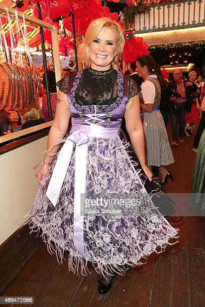 Claudia Effenberg attends the Regines Sixt Damen Wiesn during the Oktoberfest 2015 on September 21, 2015 in Munich, Germany.