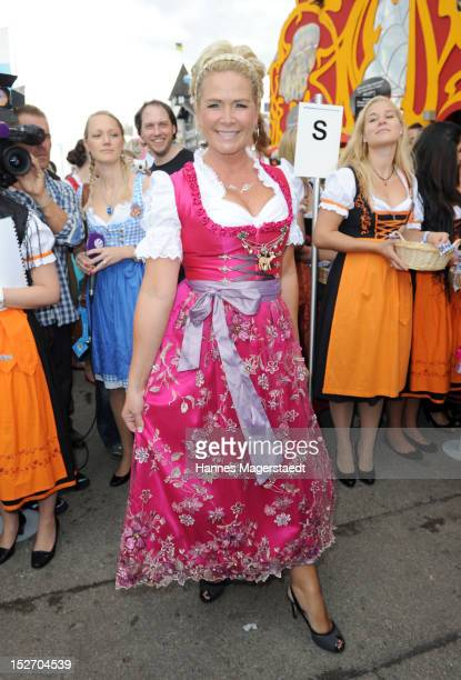 Claudia Effenberg attends the 'Sixt - Damenwiesn' as part of the Oktoberfest beer festival at Hippodrom beer tent on September 24, 2012 in Munich,...