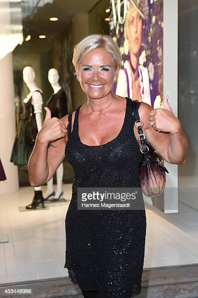 Claudia Effenberg attends 'The Supreme Group Hosts Women Men Munich' at Hugo's on August 10 2014 in Munich Germany