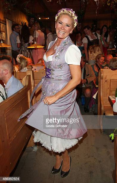 Claudia Effenberg during Oktoberfest at Weinzelt /Theresienwiese on September 28 2014 in Munich Germany