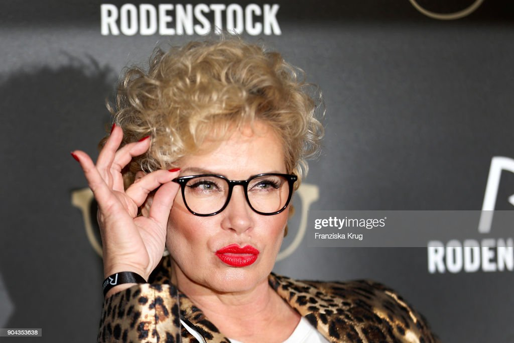 Claudia Effenberg during the Rodenstock Eyewear Show on January 12, 2018 in Munich, Germany.