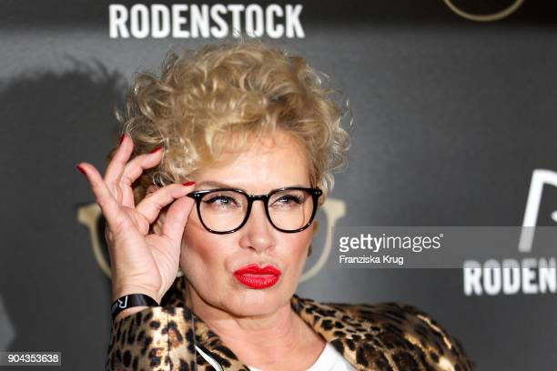Claudia Effenberg during the Rodenstock Eyewear Show on January 12 2018 in Munich Germany