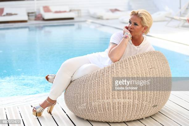Claudia Effenberg during the Zhero hotel and 'Bahia Mediterraneo' restaurant opening on June 3 2017 in Palma de Mallorca Spain