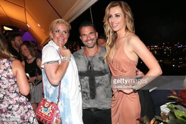 Claudia Effenberg, Marc Terenzi and Verena Kerth during the Zhero hotel and 'Bahia Mediterraneo' restaurant opening on June 3, 2017 in Palma de...