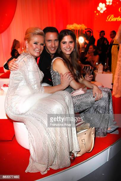 Claudia Effenberg Marcel Remus and Lucia Strunz attend the Mon Cheri Barbara Tag 2017 at Postpalast on November 30 2017 in Munich Germany