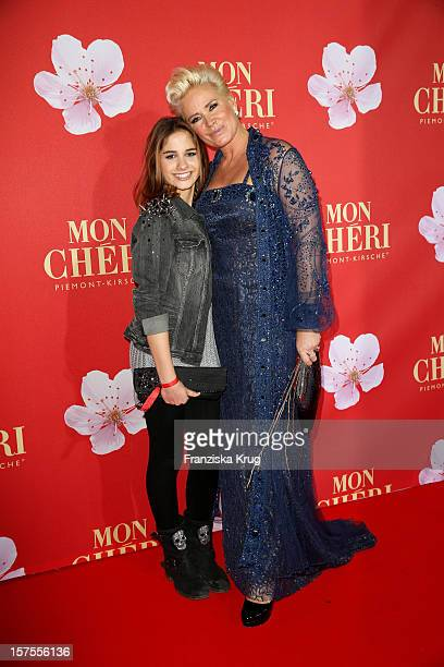 Claudia Effenberg with her daughter Lucia attend the Barbara Tag 2012 on December 04 2012 in Munich Germany