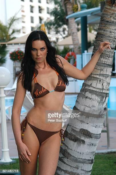 Claudia Ehlert Hotel Dunas La Canaria Maspalomas Insel Gran Canaria Kanarische Insel Spanien Europa Pool Bikini Model Schönheitskönigin Promi BB DIG...