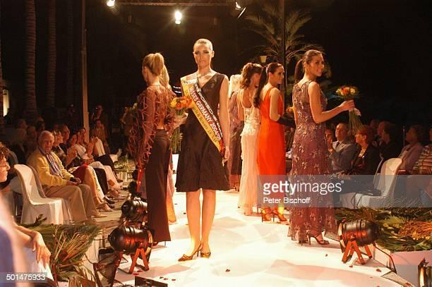Claudia Ehlert und weitere Teilnehmerinnen der Miss GermanyWahl 2005 MissenCamp Modenschau im Hotel Dunas La Canaria Maspalomas Insel Gran Canaria...