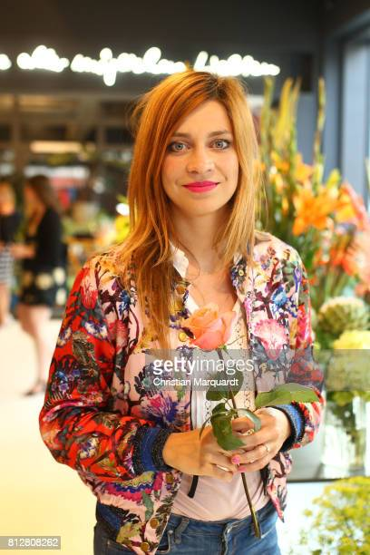 Claudia Eisinger attends the 'Kians Garden Flower Shop' Opening Event at Kantstrasse on July 11 2017 in Berlin Germany