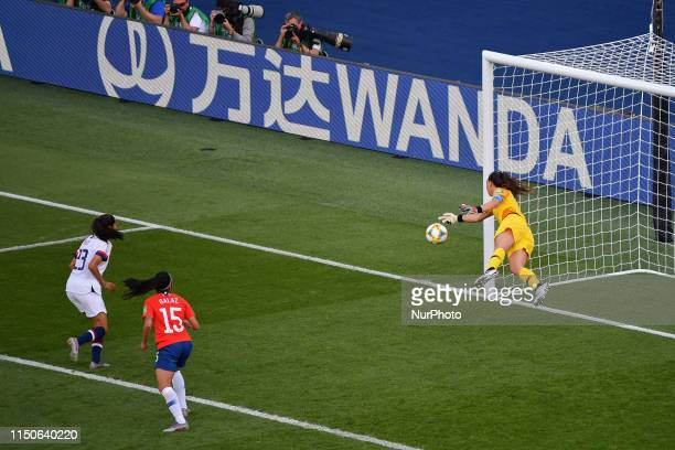 Claudia ENDLER in Action during at the match between USA vs CHILE at the 2019 World cup in France in Parc des Princes in Paris France on 16 June 2019