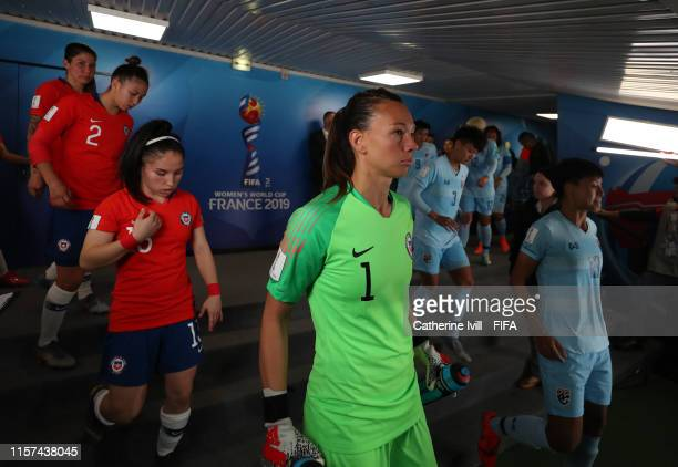 Claudia Endler of Chile in the tunnel ahead of the second half of the 2019 FIFA Women's World Cup France group F match between Thailand and Chile at...