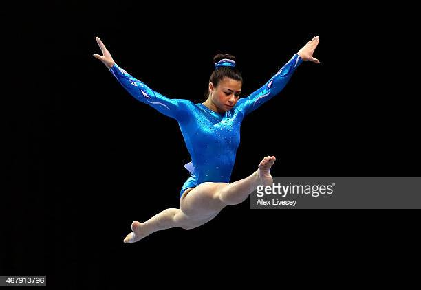 Claudia Fragapane of Bristol Hawks Gym competes on the Beam during day two of the Mens Womens Artistic British Championships 2015 at the Echo Arena...