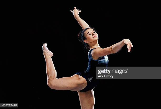 Claudia Fragapane of the British Gymnastics Team poses during a portrait session at Lilleshall National Sports Centre on February 11 2016 in...