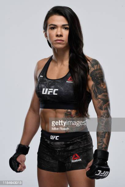 Claudia Gadelha of Brazil poses for a portrait during a UFC photo session on July 3 2019 in Las Vegas Nevada