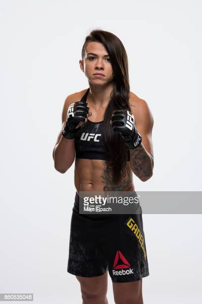 Claudia Gadelha of Brazil poses for a portrait during a UFC photo session on September 20 2017 in Tokyo Japan