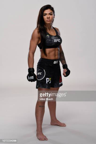 Claudia Gadelha poses for a portrait during a UFC photo session on December 4 2018 in Toronto Ontario Canada