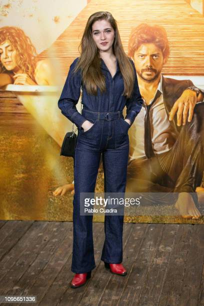 Claudia Galan attends the 'El Embarcadero' premiere at Callao Cinema on January 17 2019 in Madrid Spain