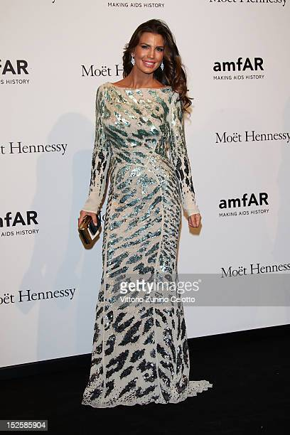 Claudia Galanti attends amfAR Milano 2012 during Milan Fashion Week at La Permanente on September 22 2012 in Milan Italy