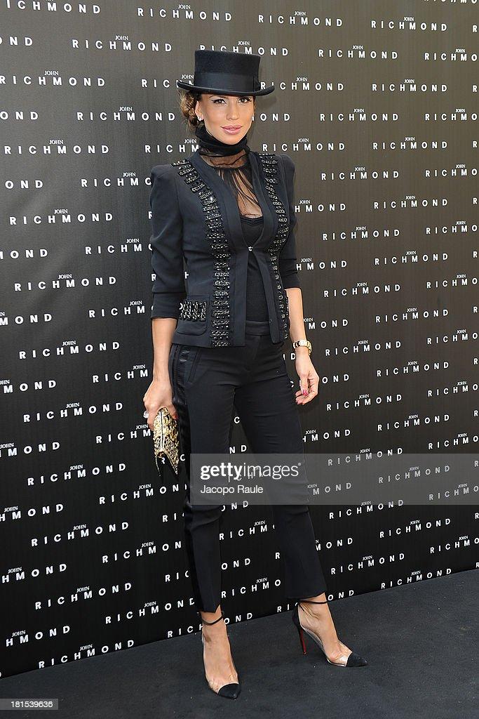 Claudia Galanti attends John Richmond during Milan Fashion Week Womenswear Spring/Summer 2014 on September 22, 2013 in Milan, Italy.