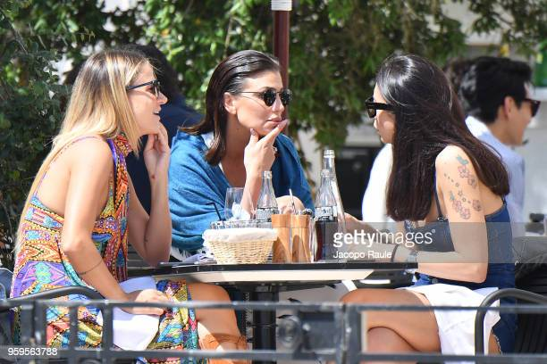 Claudia Galanti is seen during the 71st annual Cannes Film Festival at on May 17 2018 in Cannes France