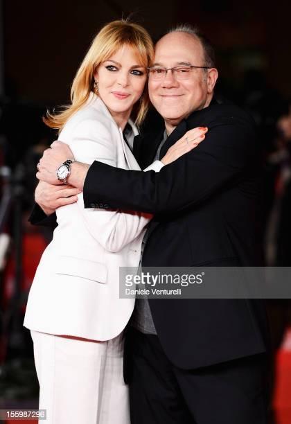 Claudia Gerini and Carlo Verdone attend the Carlo Premiere during the 7th Rome Film Festival at the Auditorium Parco Della Musica on November 10 2012...
