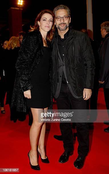 Claudia Gerini and Giuseppe Fiorello attend the 'Ritratto Di Mio Padre' premiere during the 5th Rome International Film Festival on October 27 2010...