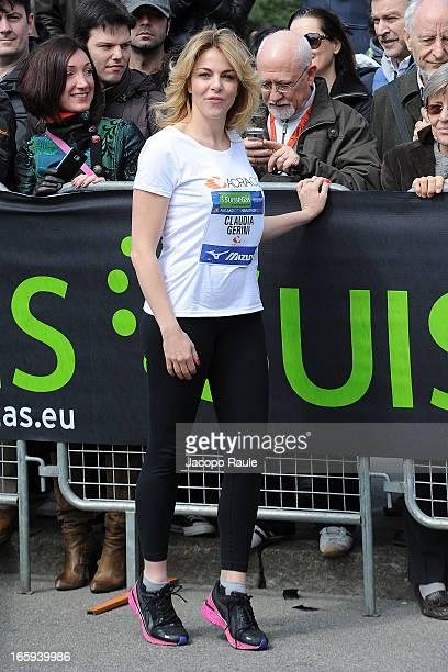 Claudia Gerini attends 2013 Milano City Marathon on April 7 2013 in Milan Italy