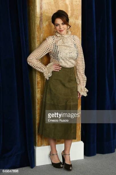 Claudia Gerini attends a photocall for 'John Wick Chapter 2' at Hotel Bernini on March 8 2017 in Rome Italy