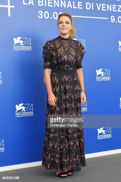 Claudia Gerini attends the 'Ammore E Malavita' photocall during the 74th Venice Film Festival at Sala Casino on September 6 2017 in Venice Italy
