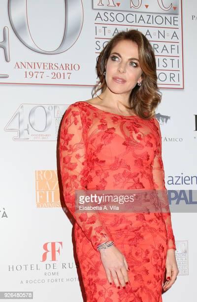 Claudia Gerini attends the ASC 40th anniversary party at Palazzo delle Esposizioni on March 2 2018 in Rome Italy