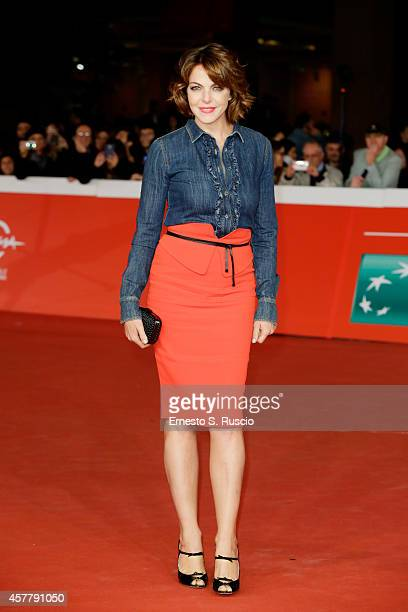 Claudia Gerini attends the 'Biagio' Red Carpet during the 9th Rome Film Festival on October 24 2014 in Rome Italy