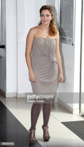 Claudia Gerini attends the 'Meno Male Che Ci Sei' photocall at Adriano Cinema on November 23 2009 in Rome Italy