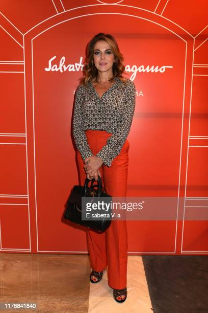 Claudia Gerini attends the Reopening of Salvatore Ferragamo men's store on October 03 2019 in Rome Italy