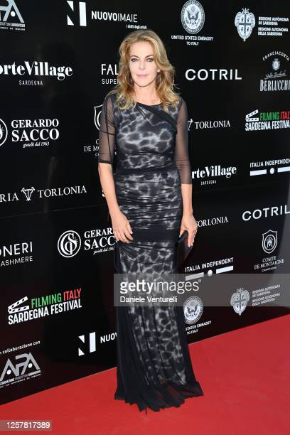 Claudia Gerini attends the second day of Filming Italy Sardegna Festival 2020 at Forte Village Resort on July 23 2020 in Cagliari Italy
