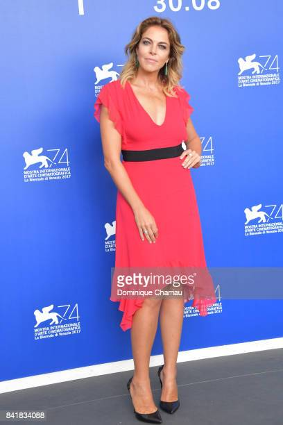 Claudia Gerini attends the 'Suburra The Series' photocall during the 74th Venice Film Festival at Sala Casino on September 2 2017 in Venice Italy
