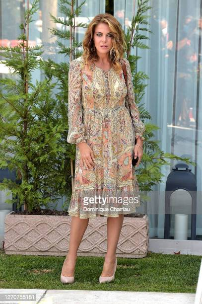 Claudia Gerini is seen arriving at the Excelsior during the 77th Venice Film Festival on September 05 2020 in Venice Italy