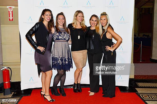 Claudia Gomez Ariana Kane Denise Kurland Stacy Artall and Olivia Wong attend Strolling Supper Lung Cancer Research Foundation's Fourteenth Annual...