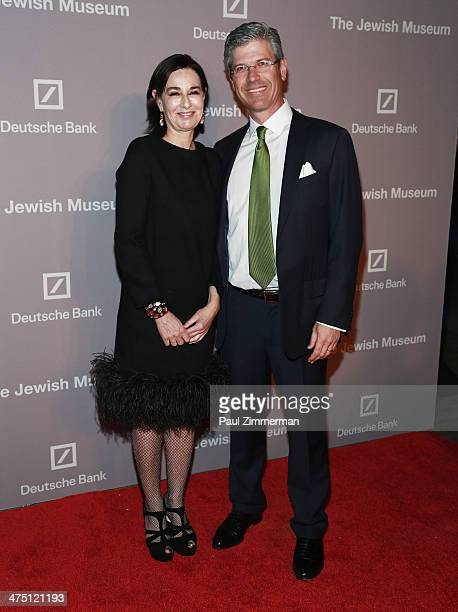 Claudia Gould and Chairman of The Jewish Museum Robert Pruzan attend the Jewish Museum's Purim Ball 2014 at Park Avenue Armory on February 26 2014 in...