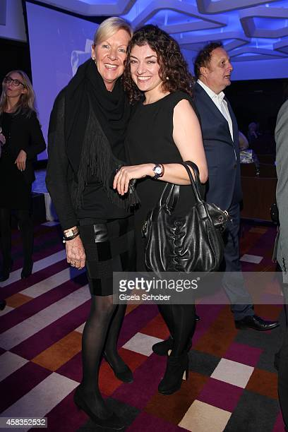 Claudia Graus director Unicef Painter Nahid Shahalimi attend the 'Haute Couture Connection' Cocktail Prolonge at Hotel Vier Jahreszeiten on November...