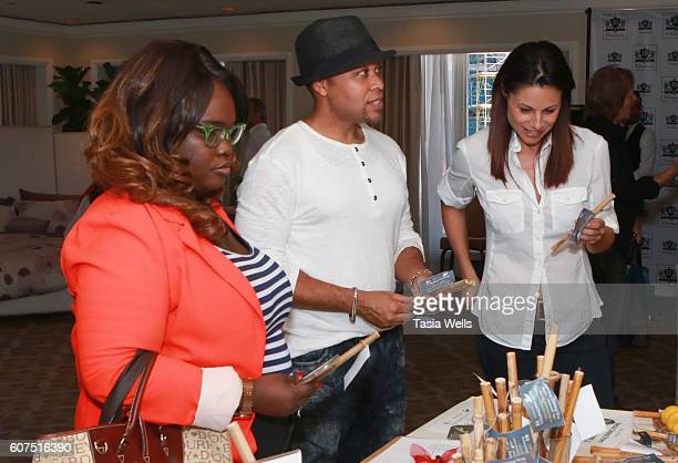 Claudia Green actors Frank Bantley and actress Marie Wilson attend EcoLuxe Lounge Celebrates the Emmys on September 17 2016 in Los Angeles California
